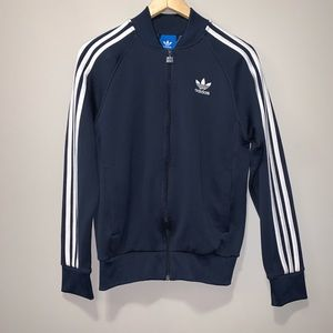 Men's Adidas Soccer 3 Stripes Track Jacket Navy